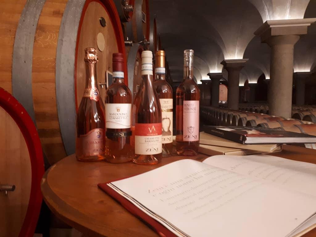 Chiaretto wine bottles